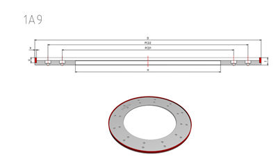 1A9 CBN wheels