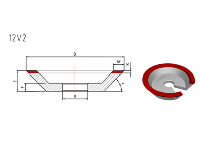 12V2 Diamond Grinding Wheel