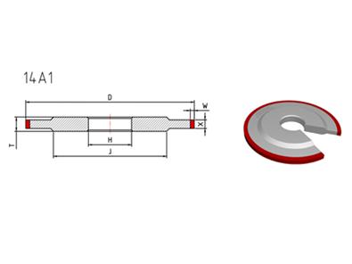 14A1 shape grinding wheel
