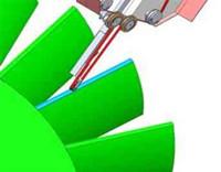 Grinding blade edge of integrated blisk