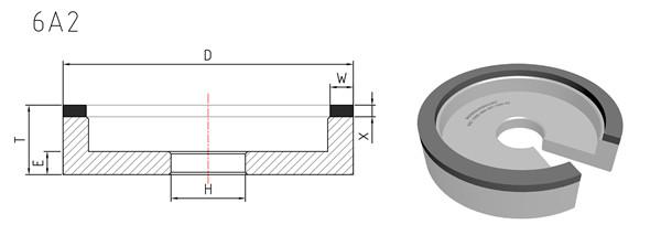 6a2 diamond grinding wheels
